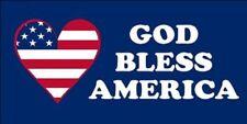 Wholesale Lot 6 God Bless America American Flag Heart Decal Bumper Sticker