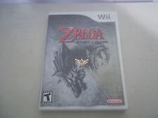 NINTENDO original WII The Legend of ZELDA Twilight Princess video game red logo