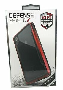 X-Doria Defense Shield for the iPhone XS Max Phone Case New Red Metal