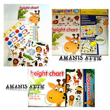 Height Chart Children Kids Giraffe Jungle Animal Design - 40 Stickers Included