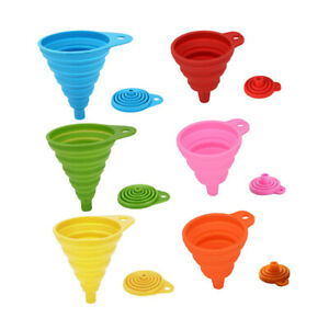Silicone Funnel Folding SP.PRICE PACKS OF 2 or 4 for easy pouring (UK SELLER)