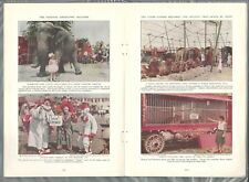 1931 THE CIRCUS magazine article, Francis Beverly Kelley, clowns animals etc