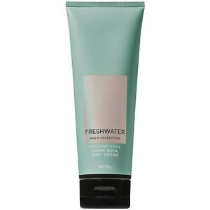 Bath and Body Works Men's Collection FRESHWATER Ultra Shea Body Cream 8 Ounce
