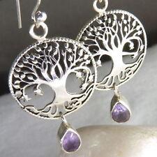 Drop/Dangle Amethyst Sterling Silver Fine Earrings