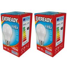 2x 5.6w (40w) ES Edison Screw E27 LED GLS 6500K Daylight 480 Lm Eveready s13621