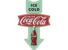NEW Coke Arrow tin metal sign