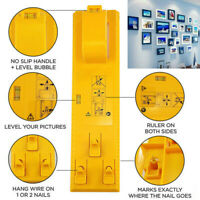 DIY Picture Frame Hanger Hooks Photo Easy Wall Hanging Tool  Bubble Level Ruler