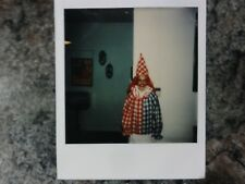 Polaroid Photo of Scary Homemade Clown Back in the Day!