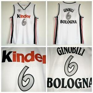 6 Manu Ginobili Bologna Kinder Bologna Vitus National Man Basketball Jerseys