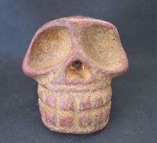 Chinese Antique Hongshan Jade death's-skull statue 1029g