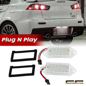 For 2003-2017 Mitsubishi Lancer / Evolution LED License Plate Light Lamp White