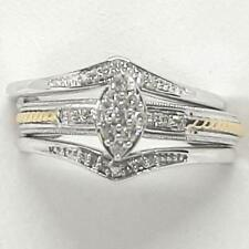 .42ctw H-SI Diamond 14K Yellow Gold / 925 Silver Engagement / Wedding Set Ring