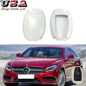 New White Remote Smart Keyless FOB Cover Case Skin Shell For Mercedes Benz 14-17