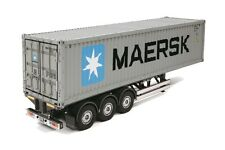 Container Trailer Maersk 40-foot 3-axle for Camion Truck 1:14 Rc Radiocomandato
