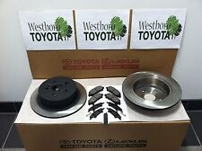 Toyota Highlander 2008-2013 New OEM Genuine Rear Brake Rotors Pads & Shim Kit