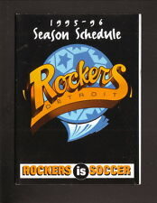 Detroit Rockers--1995-96 Pocket Schedule--First Finance--NPSL