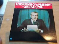 """Collectible Resignation Of A President August 8 1974 33 Rpm Record 12"""""""