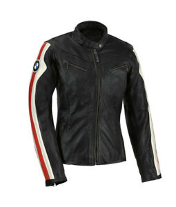 Women BMW Racing Biker Leather Jacket Ladies Motorbike/Motorcycle Leather Jacket