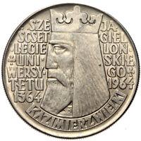 Polen - Gedenkmünze - 10 Zlotych 1964 - KAZIMIERZ WIELKI - Konvexe Buchstaben