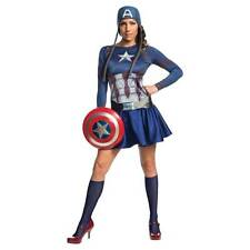 Captain America Civil War Female Adult Costume Size10-14 Marvel Rubies 820096