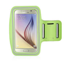 Running High Quality Adjustable Neoprene Armband Tie Samsung Galaxy S6 LimeGreen