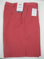 NWT Izod Golf Saltwater Red Saltwater Relaxed Classics Stretch Shorts Mens 34