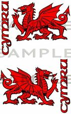 Welsh Dragon 180 kit CYMRU Car Sticker Bike Van Truck Tool Box 4x4 Off Road RC