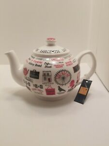 James Sadler LONDON LIFE China Teapot
