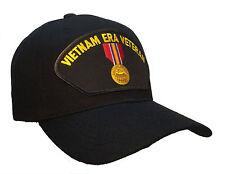 Vietnam Veteran Era Hat Black Ball Cap National Defense Medal Hat