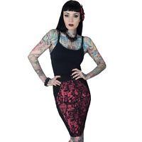 Kreepsville 666, Devil Made Me Do It Coffin Pencil Skirt, alternative, Gothic