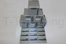 Lamy T10 Tintenpatronen - Blau,Schwarzblau,Grün,Rot,Türkis,Violett - Neu und OVP