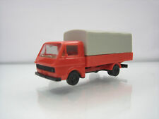 Herpa Plastic HO Car 1/87 Herpa Volkswagen LT Flat Bed Canvas Red