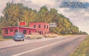 H41/ Melrose Georgia Postcard Chrome J & L Inn Modern Cabins