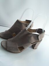 Ladies sandal Nude Suede Block Heel Slip Sticky Back Naturalizer Size 6