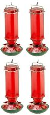 (4) ea Woodlink N35241 Audobon 16 oz Ruby Glass Hummingbird Feeders