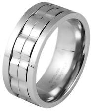 Akzent Ring aus Edelstahl in silber Edelstahlring Herrenring Herrenschmuck