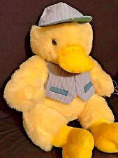"26"" diameter Large Plush Stuffed Yellow Duck Easter Basket Baseball player hat"