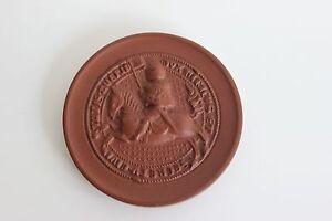 Medaille Fête du travail SCHWERIN 1972 biscuit de porcelaine Meissen