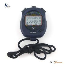 New Large 3 row display 60 split recallable memory Professional stopwatch Timer