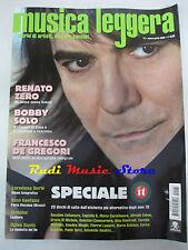 rivista MUSICA LEGGERA 3/2009 Renato Zero Francesco De Gregori Rino Gaetano Nocd