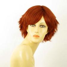 perruque femme 100% cheveux naturel courte cuivré intense ref SHINA 130