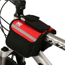 Red New Cycling Bike 600D Bicycle Frame Pannier Double-Saddle Front Tube Bag