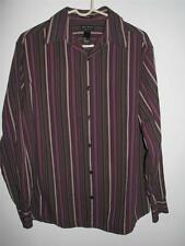 AXCESS CLASSIC FIT LONG SLEEVE BUTTON FRONT SHIRT LARGE