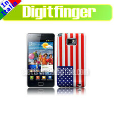 SAMSUNG GALAXY S2 S II CUSTODIA Back Cover Guscio BANDIERA USA Flag Stati Uniti
