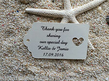 10 Kraft Tags Wedding Favour Personalised Bomboneire Thank you for sharing V4