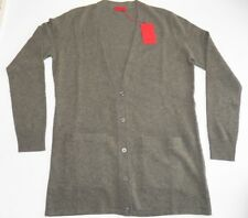 "Pringle Scotland Cashmere Wool Long Sleeved V Neck Cardigan M 40"" Green Grey 16"