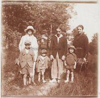 Snapshot Modalità Vita famille Francia Foto Targa per lente Stereo Vintage LE16