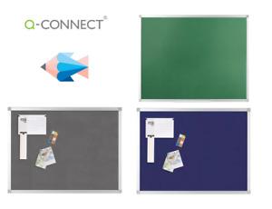 Q-Connect Aluminium Frame Felt Noticeboard, 1200x900mm - Various Colours, VALUE!