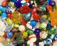 Lampwork Beads, 1 LB  Bulk, Mixed Style & Colors, Handmade Glass