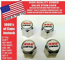 Chrome Dodge Challenger SRT Hellcat 392 Hemi White Valve Stem Air Caps